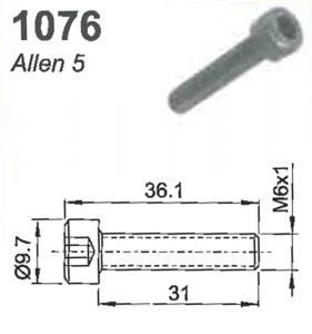 SCREW: (ALLEN 5) M6 X 1.0 X 31.0MM