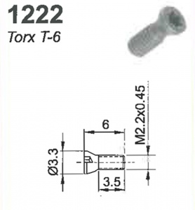 SCREW(TORX-6)M2.2X0.45X6MM #1222
