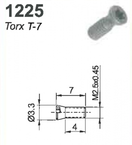 SCREW(TORX-7)M2.5x0.45x7MM #1225