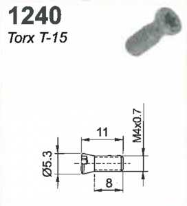 SCREW(TORX-15)M4X0.7X11MM #1240
