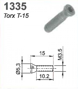 SCREW(TORX-15)M3.5X0.6X15MM #1335