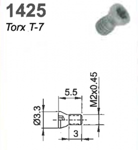 SCREW(TORX-7)M2X.045X5.5MM #1425