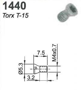 SCREW(TORX-15)M4X0.7X7.5MM #1440