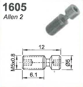 SCREW: M5 X 0.8 X 6.1MM  (ALLEN 2)