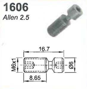 SCREW(ALLEN 2.5)M6X1X8.65MM #1606