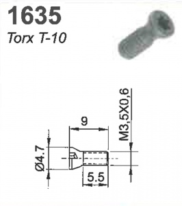 SCREW(TORX-10)M3.5X0.6X9MM #1635