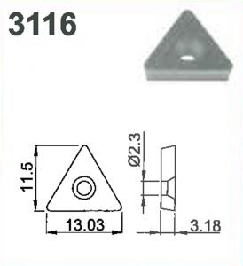SHIM-TRIANGULAR-C STYLE TOOL #3116