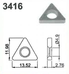 SHIM: TRIANGULAR #3416
