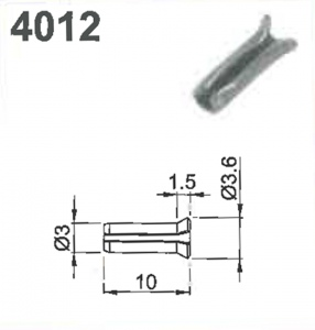 SHIM PIN: #4012 FOR MILLING CUTTER