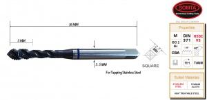 BLUE BAND TAP: M3 X 0.5 SPIRAL FLUTE
