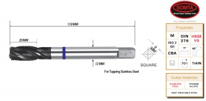 BLUE BAND TAP: M16 X 2.0  SPIRAL FLUTE