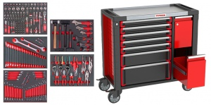ROLLER TOOL CHEST: 9 DRAWS W/TOOLS 163PCS