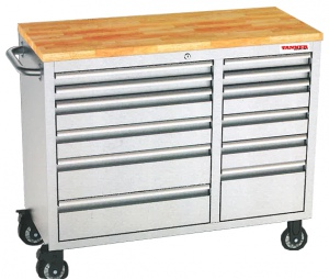 ROLLER TOOL CHEST: 12 DRAWS S/STEEL W/TOP