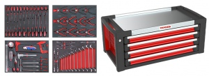 TOOL CHEST: 4 DRAWS 64PC TOOLS