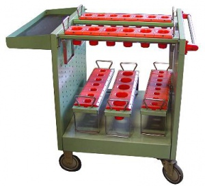 CNC TOOL TROLLEY: BT40 WITH 5 RACKS 35 TOOLS