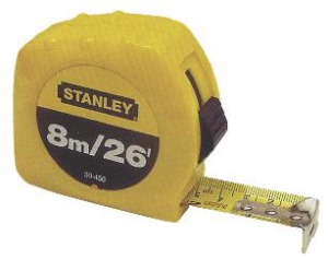 TAPE MEASURE: ST 8M X 25MM METRIC