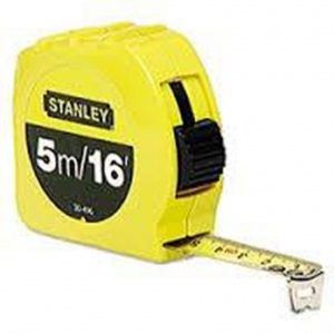 TAPE MEASURE: ST 5M X 19MM MET/IMP