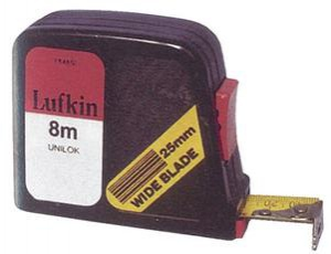 TAPE MEASURE: LUFKIN 8M X 19MM METRIC
