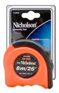 TAPE MEASURE: NICHOLSON 8M/26FT