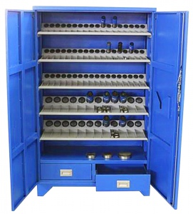 TURRET TOOL STORAGE CABINET: HEAVY DUTY