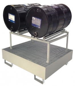 OIL DRUM DISPENSERS: TWIN DRUMS