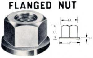 FLANGE NUT: 3/8