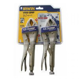 VICE GRIP: 2PC SET C/JAW IRWIN FAST RELEASE
