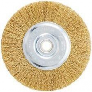 WHEEL WIRE BRUSH: 150 X 19MM BRASS