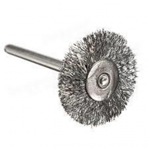 WIRE WHEEL BRUSH:  6MM SHK.MED 60 X 12MM
