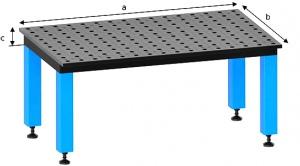 WELDING TABLE: 2D 1000 X 1000 X 100MM CT