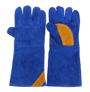 GLOVES: MIG FULL ARM LONG 670mm XCEL-ARC BLUE LEATHER
