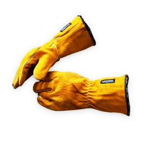 GLOVES: GAUNTLET LEATHER, WELDING  TEGRA 19