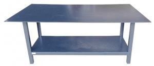 WELDING WORK BENCH: 2100 x 1200 x 900 + SHELF STEEL TOP
