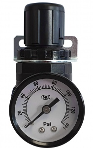 AIR MINI REGULATOR: WITH GAUGE I/4