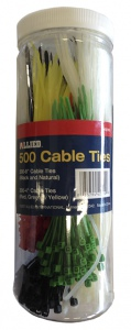 CABLE TIES: 500PCS VARIOUS SIZES