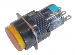 KCY-28/DM SWITCH PUSH TYPE (ORANGE) CAYKEN