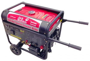 GENERATOR/WELDER: 8.0KVA PETROL WHEELS/HANDLE 1PH