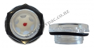 OIL LEVEL SIGHT GAUGE: 32MM OD X M25 X 1.5TPI PITCH
