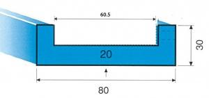 DIE RAIL: 60MM WIDE x 4200MM
