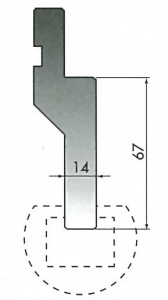 RADIUS BAR HOLDER H=67MM