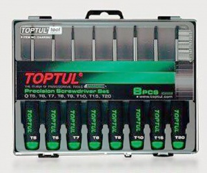 SCREWDRIVER SET: 8PC TOPTUL