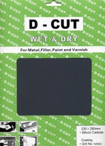 SANDPAPER: WET & DRY 180G 50PC