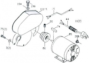 TP-115: #85 MOTOR 1/3HP 1PH