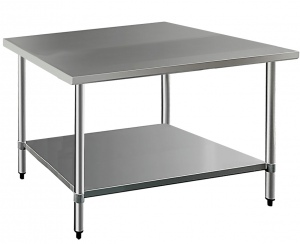 TABLE: 1200 X 600 X 800MM STAINLESS W/LOWER SHELF