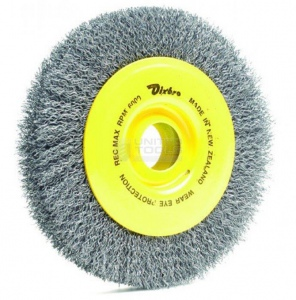 WHEEL WIRE BRUSH: 200 X 28MM