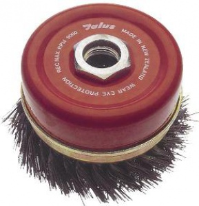 CUP WIRE BRUSH: 125MM M14 X 2.0  TWIST KNOT